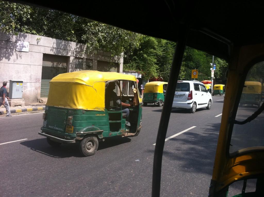 Ricșă văzută din ricșă