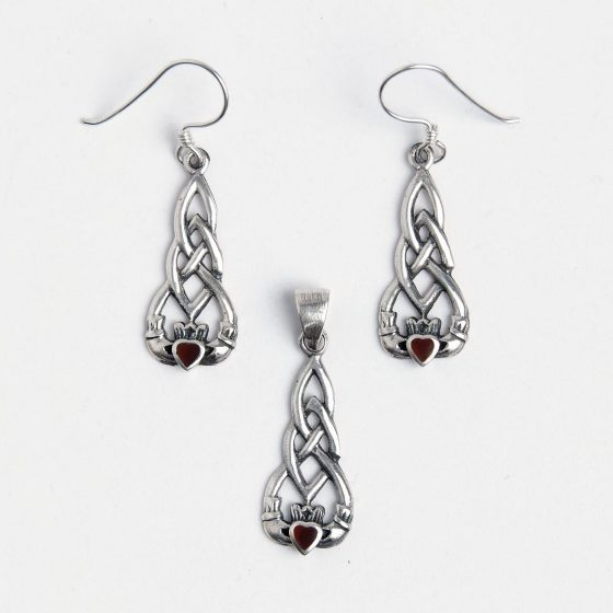 Set de bijuterii cadou de Valentine's Day pentru femei, cu simbolul celtic al iubirii