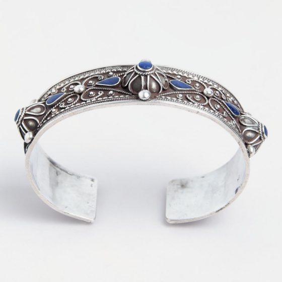 bratara deschisa din argint si lapis lazuli