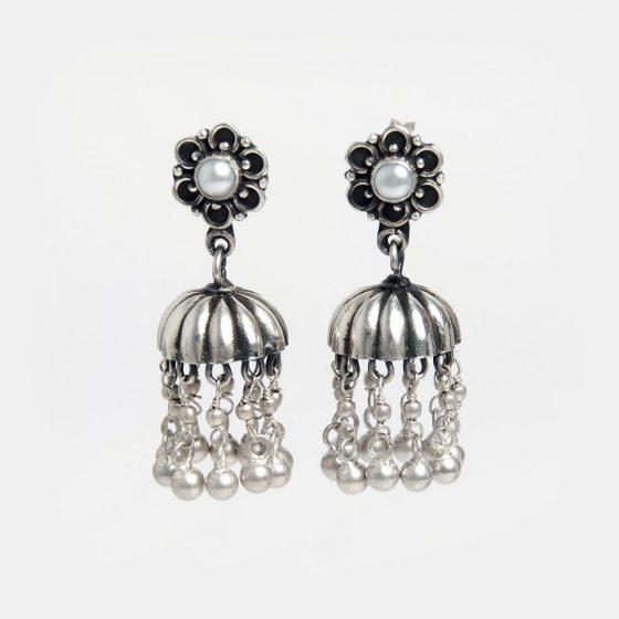 cercei indieni candelabru cu perle