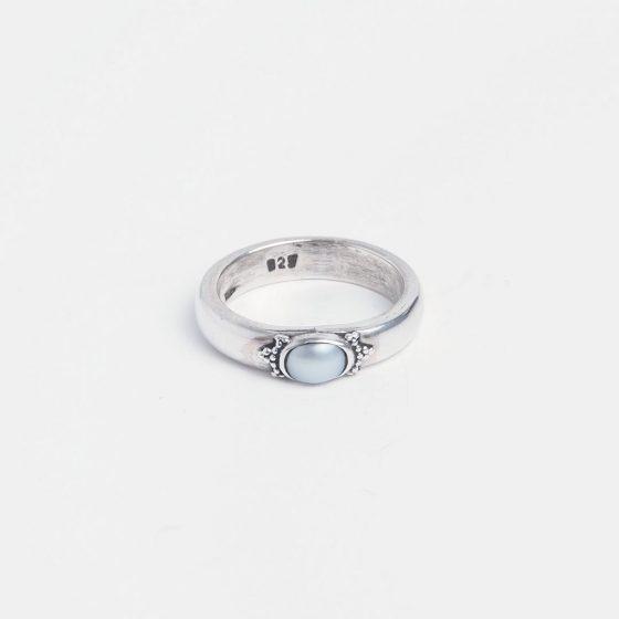 Inel din argint si perla naturala foarte frumoasa si eleganta
