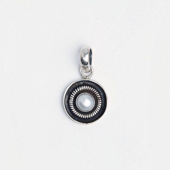 Pandantiv din argint și perlă de cultură, India