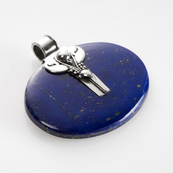 bijuterie pandantiv din argint si lapis lazuli din colectia Metaphora
