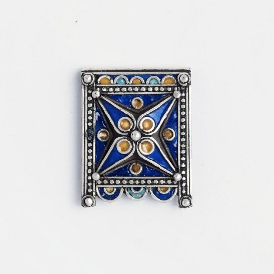 Bijuterie amuleta kitab cu email colorat