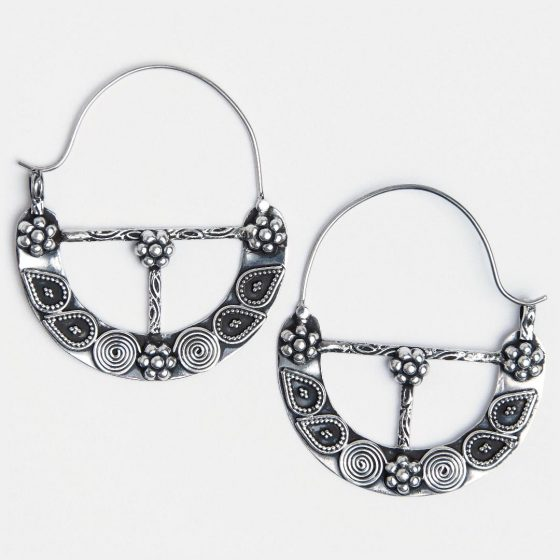 Cercei argint mari indieni Metaphora