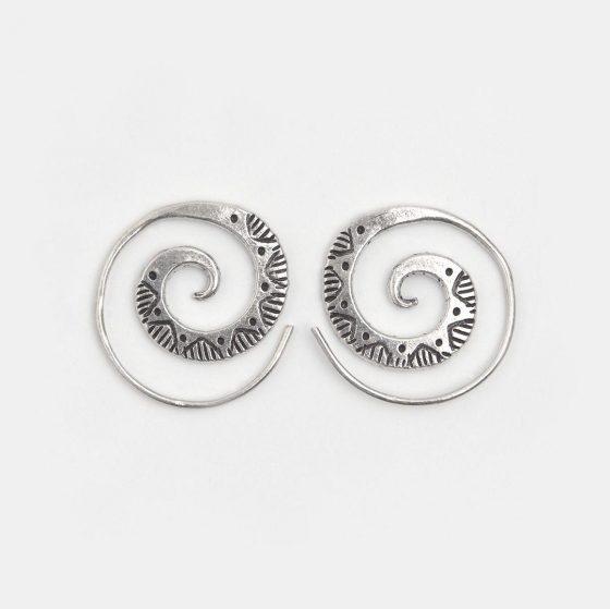 Cercei creole spirala din argint