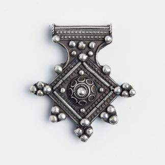 Amuletă cruce de Goulimine, argint, Maroc