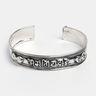 Brățară din argint amuletă Om Mani Padme Hum subțire, Nepal