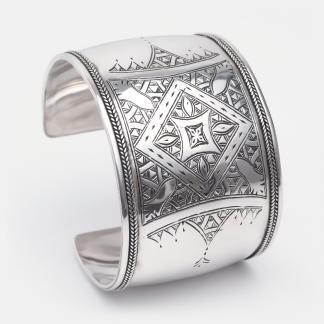 Brățară amuletă din argint Bissao, Niger