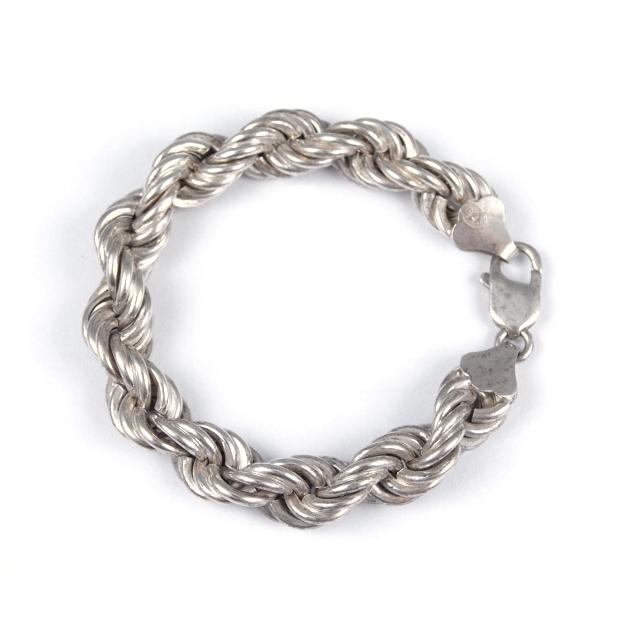 Brățară argint flexibilă, răsucită, mică, Thailanda
