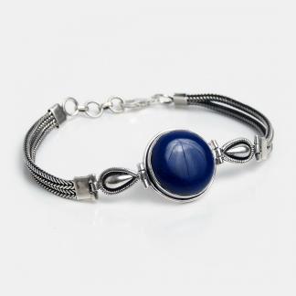 Brățară din argint și lapis lazuli Heera, India