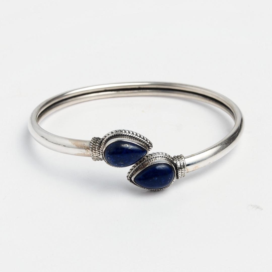 Brățară argint și lapis lazuli Yoni, India