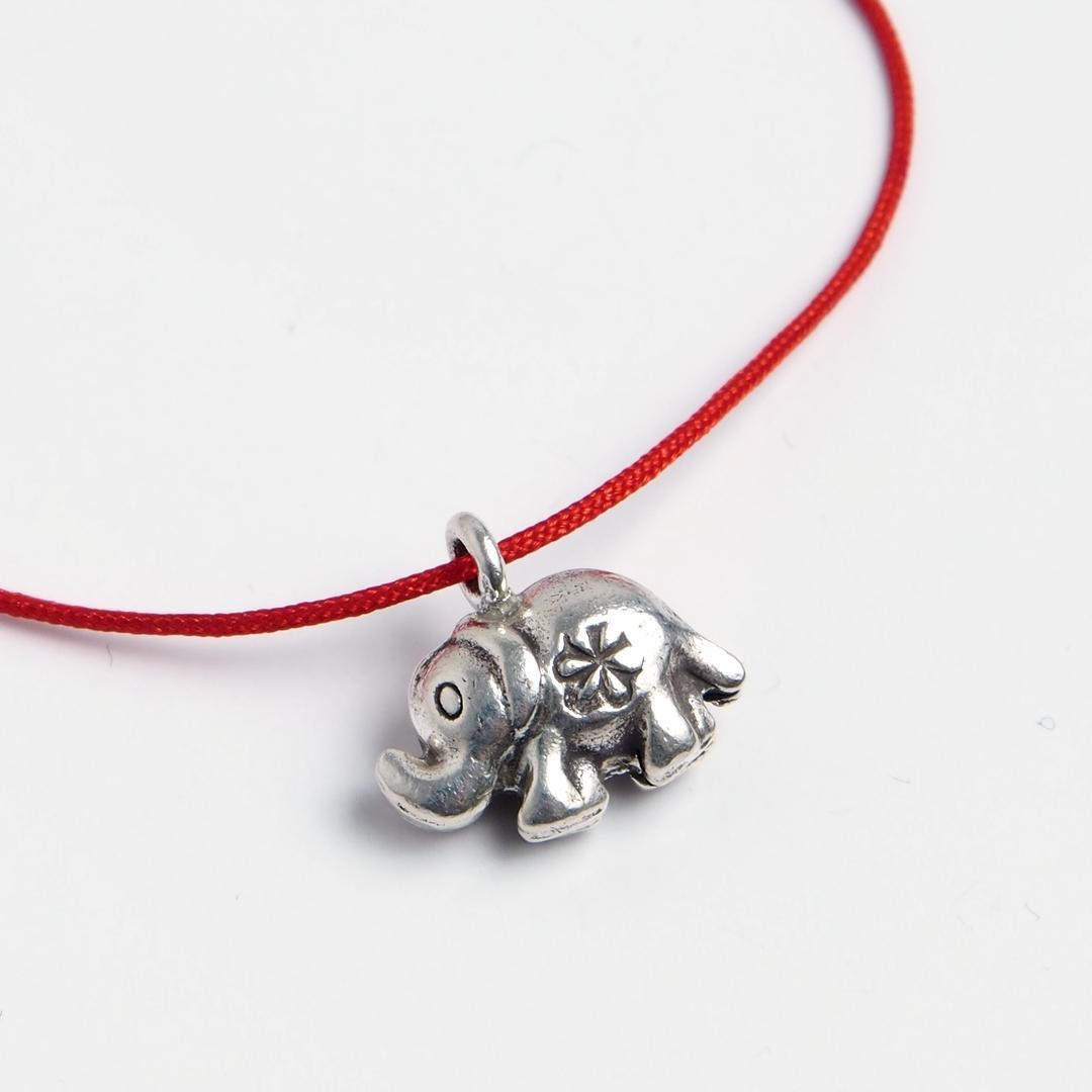 Brățară charm elefănțel, argint, Thailanda