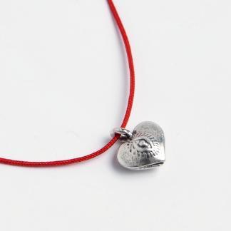 Brățară charm inimioară, argint, Thailanda