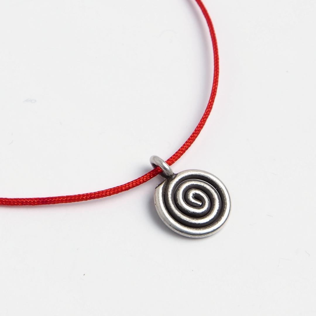 Brățară charm spirală, argint, Thailanda