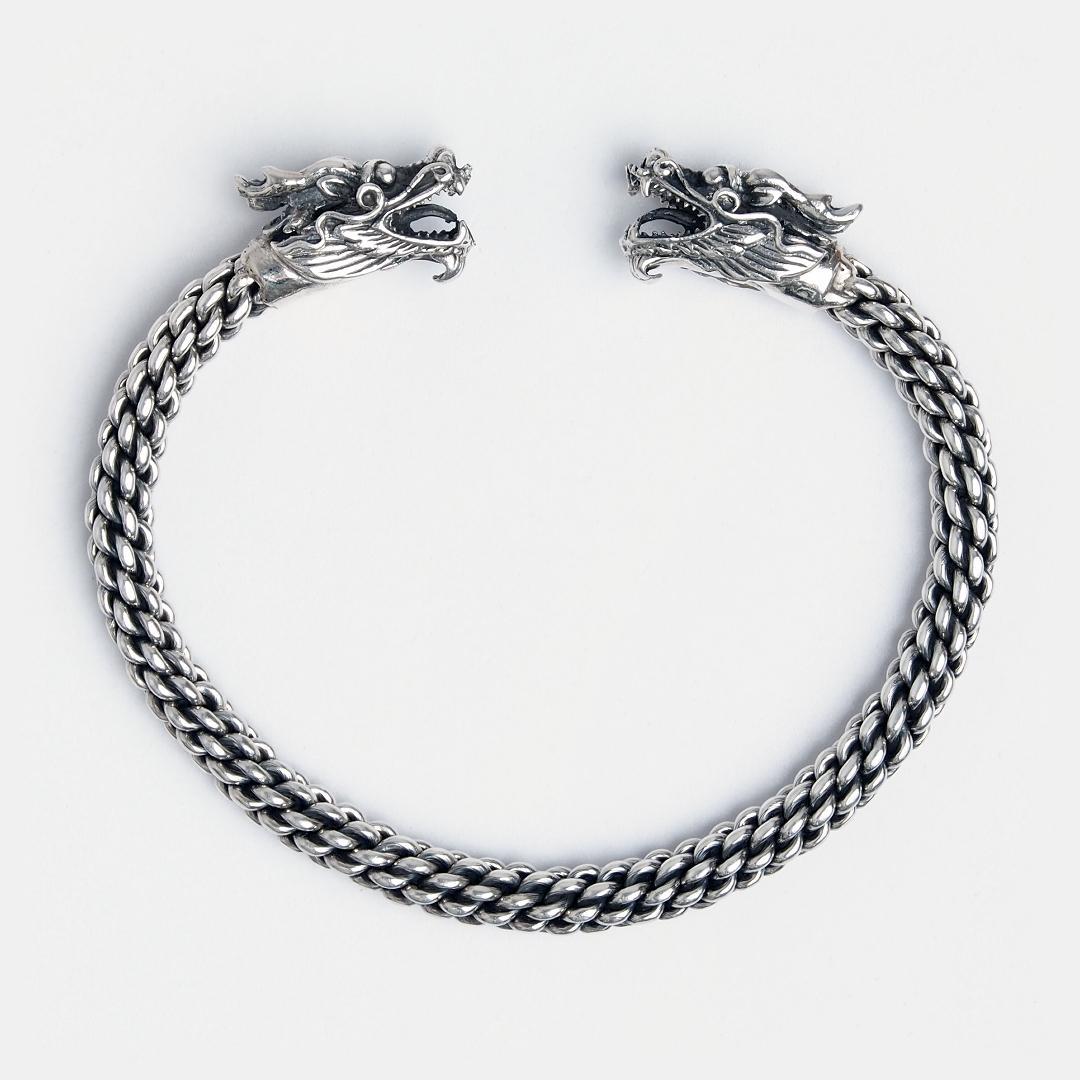 Brățară dragoni argint unicat Phaya Naga, Thailanda