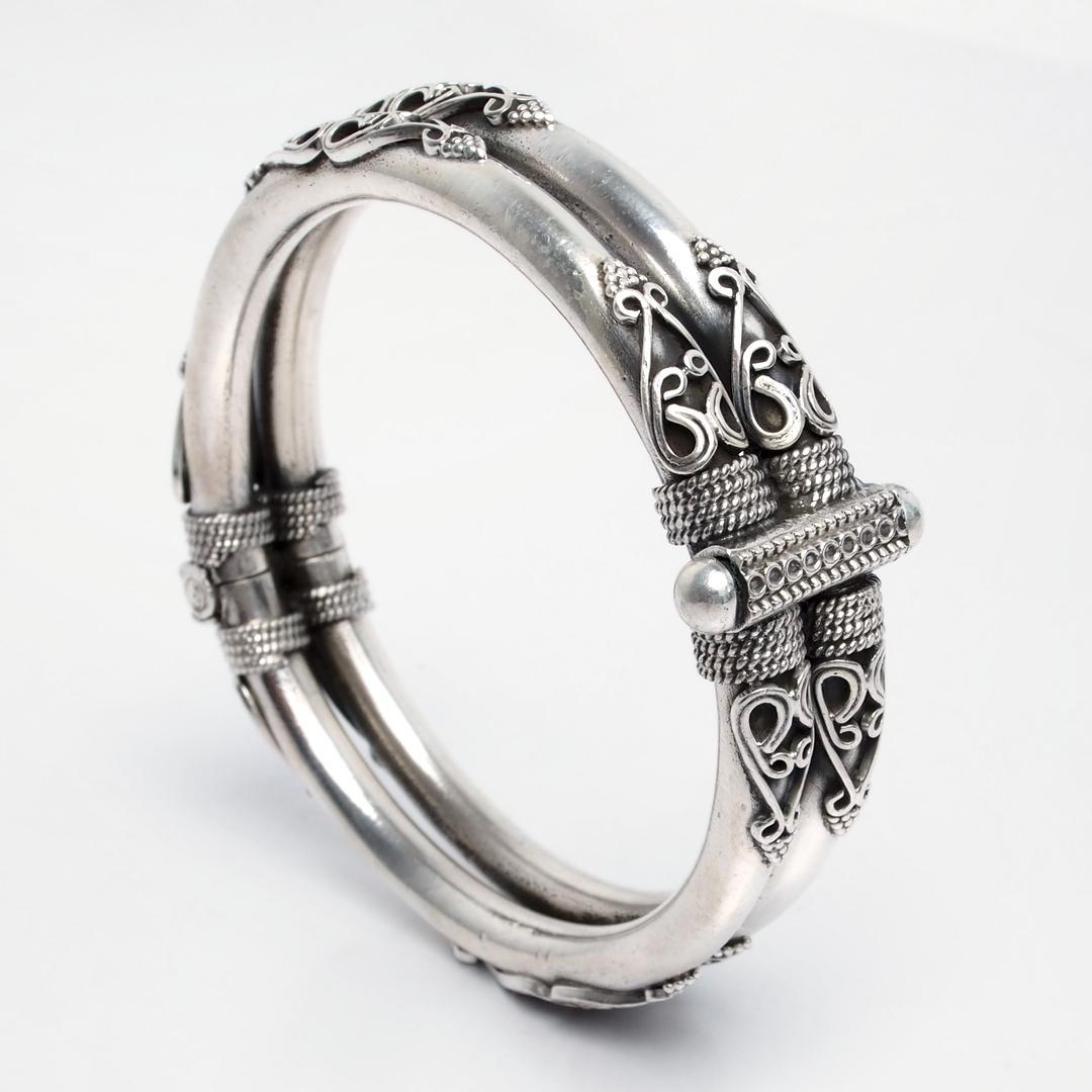 Brățară dublă Chandra, argint, India