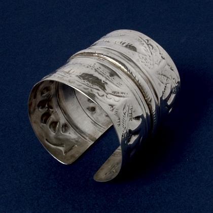 Brățară egipteană argint, sec. XX