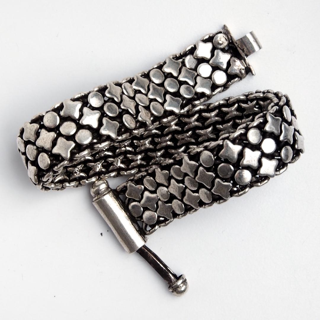 Brățară flexibilă Mangalore, argint, India