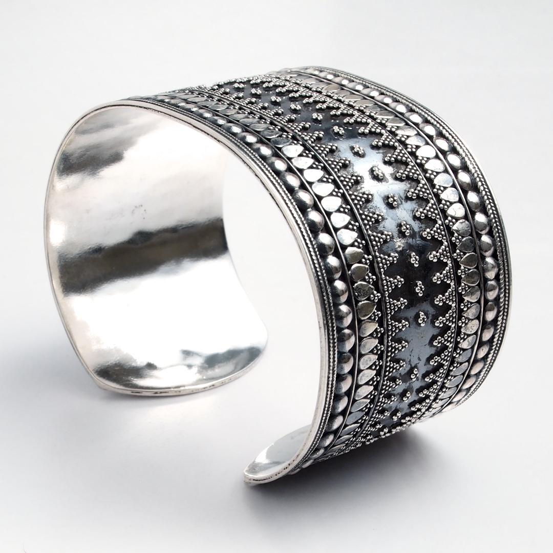Brățară lată Kochi, argint, India