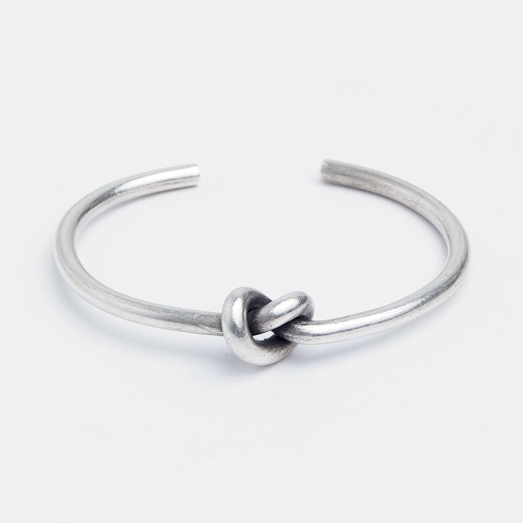 Brățară Love Knot, argint patinat, Thailanda