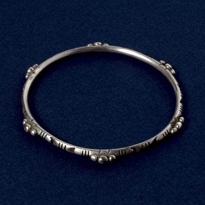 Brățară marocană subțire, argint, secolul XX