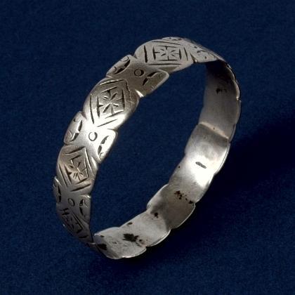 Brățară marocană unicat, argint, secolul XX