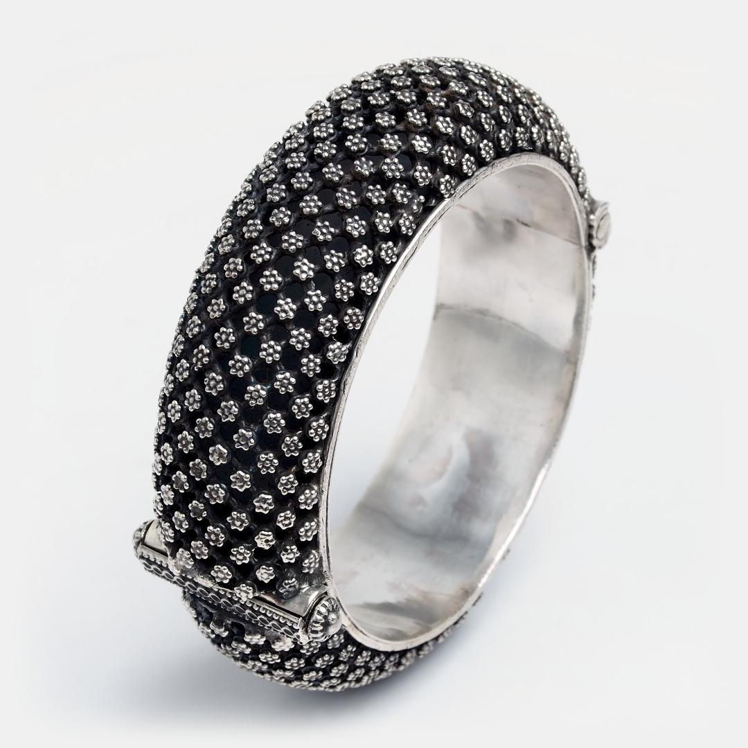 Brățară statement unicat din argint Arcin, India