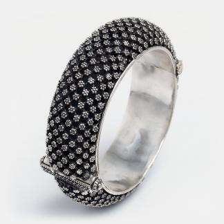 Brățară statement unicat Arcin, argint, India