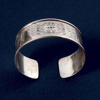 Brățară tuaregă argint gravat