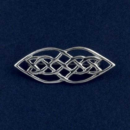 Broșă celtică alungită, argint