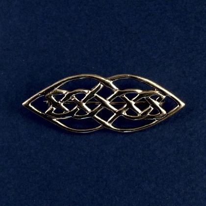 Broșă celtică alungită, bronz