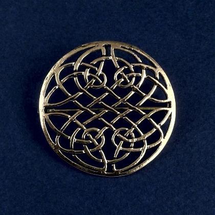 Broșă celtică circulară, bronz
