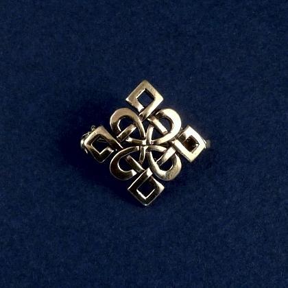 Broșă celtică pătrată mică, bronz