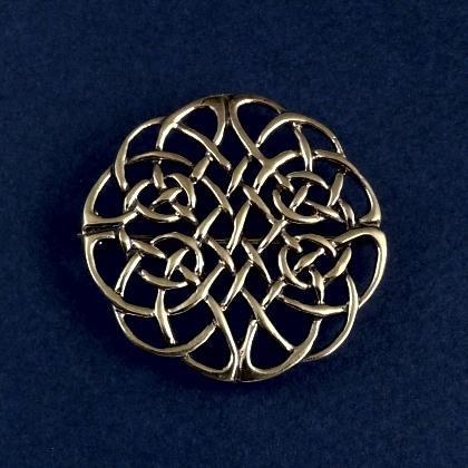 Broșă celtică rotundă mare, bronz