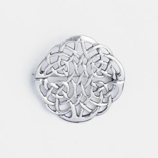 Broșă celtică rotundă medie, argint