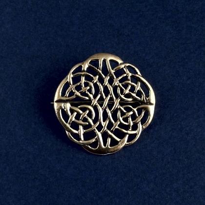 Broșă celtică rotundă medie, bronz