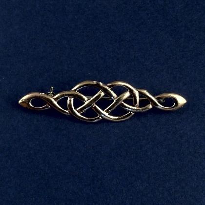 Broșă celtică subțire, bronz