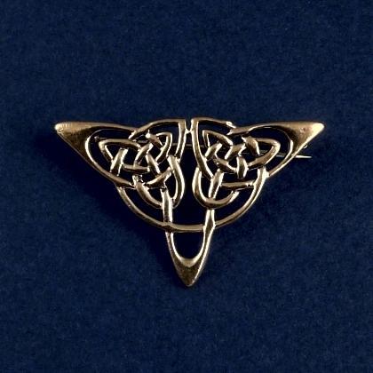 Broșă celtică triunghiulară, bronz