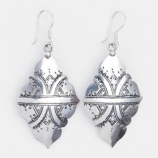 Cercei amuletă din argint Tazzara, Niger