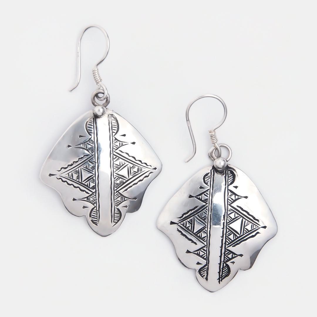 Cercei amuletă hamsa din argint Konni, Niger