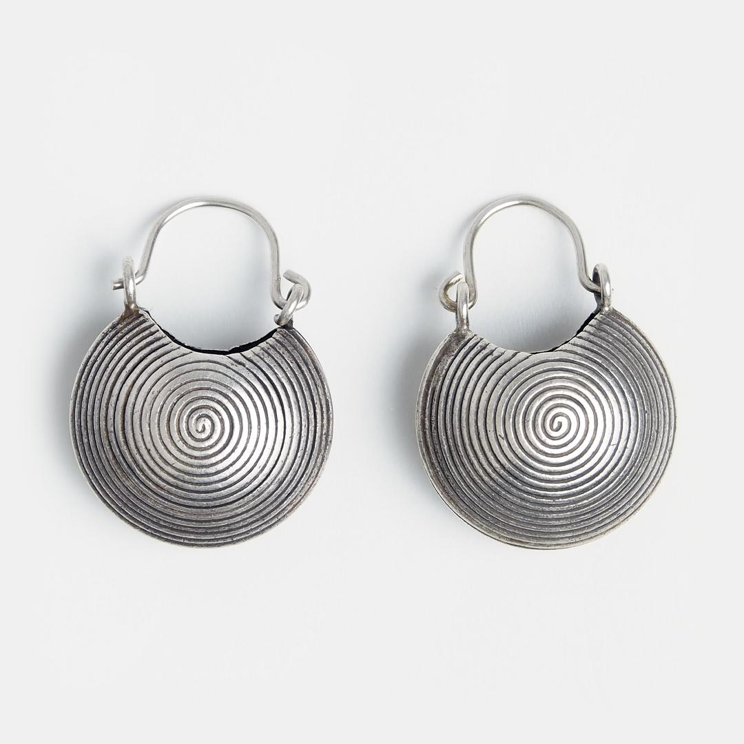 Cercei din argint coșuleț spirale, Thailanda