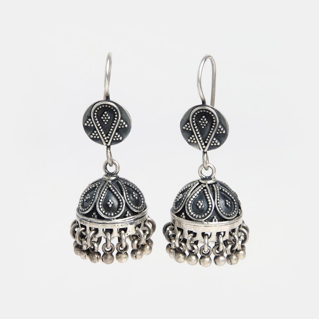 Cercei din argint jhumka Samaaj, India