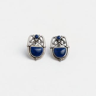 Cercei argint și lapis lazuli Shah, India