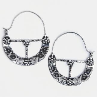 Cercei din argint mari Anupham, India