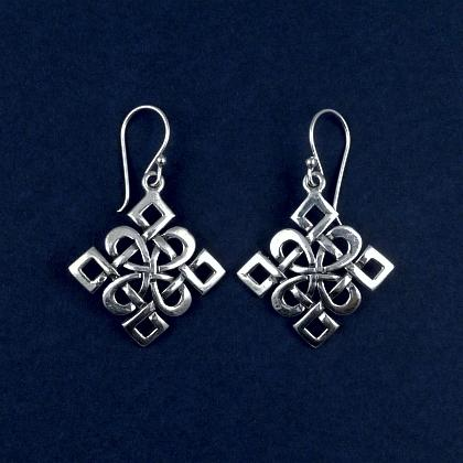 Cercei argint, nod celtic Dara