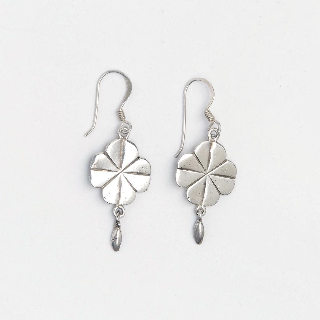 Cercei argint simbol celtic Shamrock