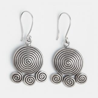 Cercei din argint spirale, Thailanda
