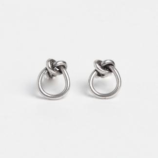 Cercei din argint cu șurub Love Knot, Thailanda