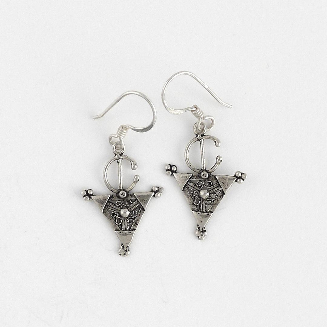Cercei berberi fibulă mică, argint